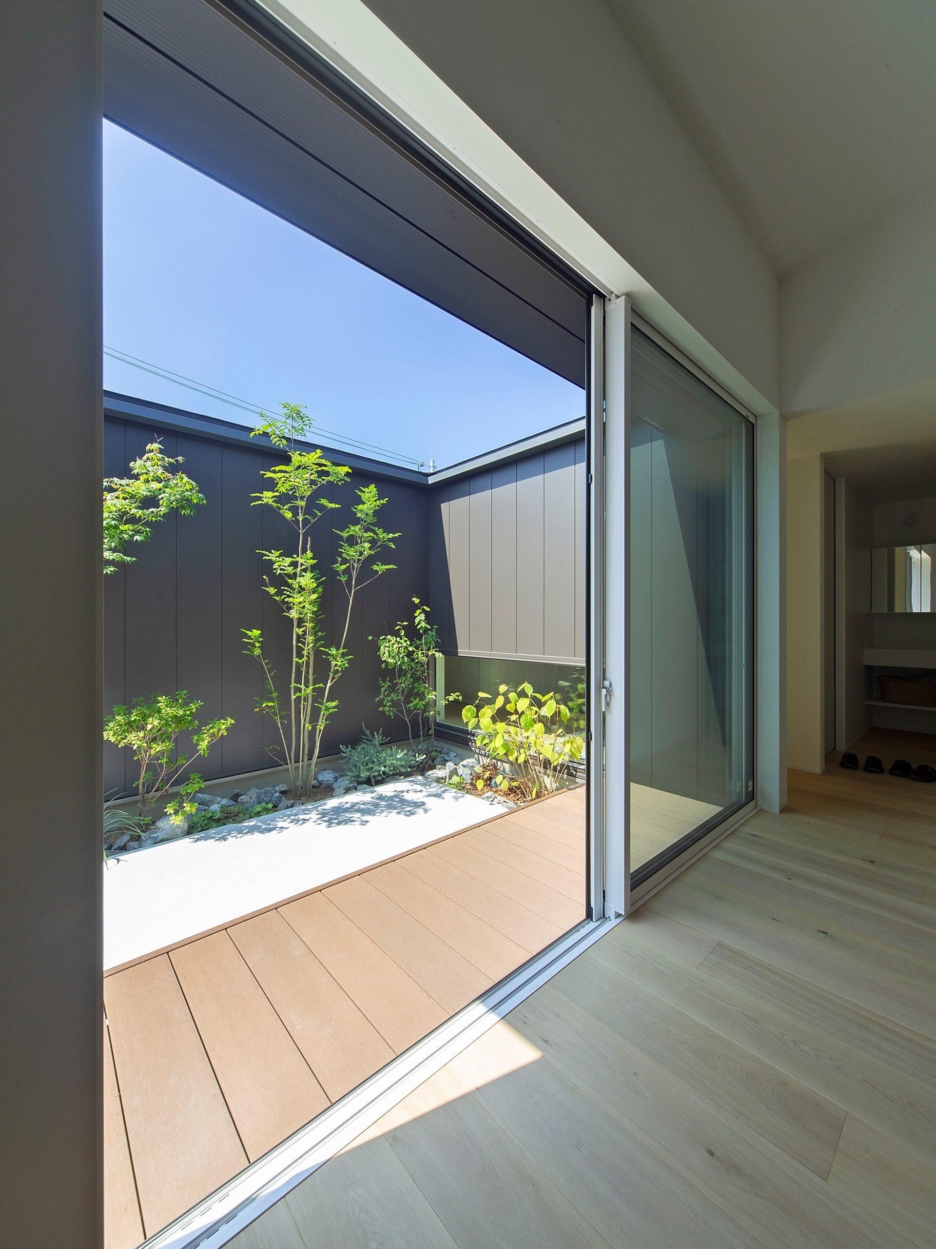 飾磨の家|中庭